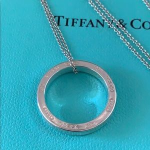 Tiffany & Co. Circle pendant sterling silver